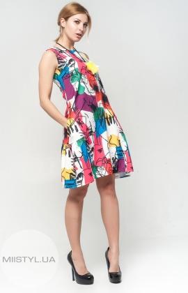 Платье La Julyet 4565 молочное/принт