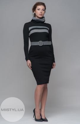 Платье La Julyet 4465 черное/серое