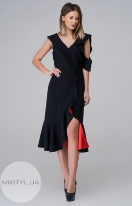 Платье Kedma 97591 Черный/Красный