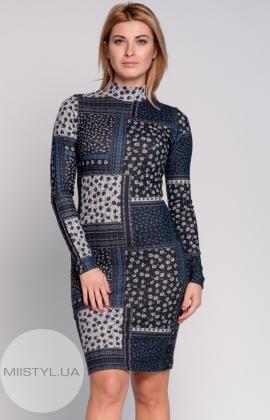 Платье La Fama 765 черное/серое