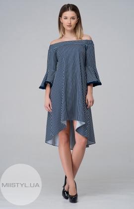 Платье  Kedma 97217 Темно-синий/Белый/Полоска