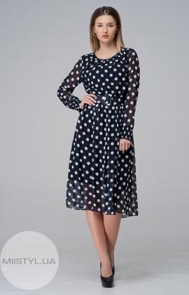 Платье My Clarissa 3068 Темно-синий/Белый/Горох