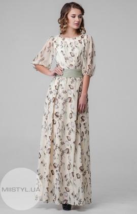 Платье La Fama LF-45-1 Желтый/Принт