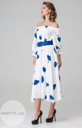 Платье Dojery 85536 Белый/Электрик/Принт