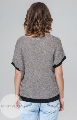 Джемпер короткий рукав Serianno 10C1369 Темно-серый
