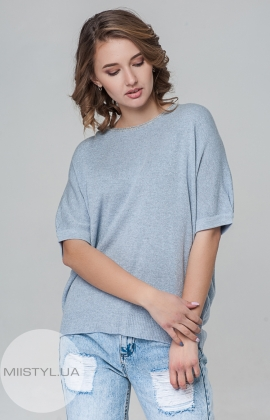 Джемпер короткий рукав Serianno 10C3572 Голубой/Люрекс