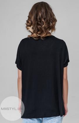 Блуза PB 2607 Черный/Бежевый/Принт