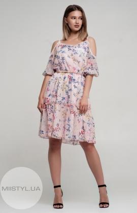 Платье Lafilazzi 3669 Пудра/Принт