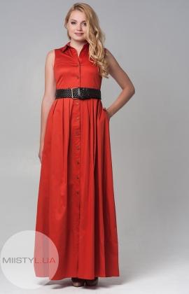 Платье Miss Istanbull 6991 теракотовое