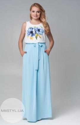 """Платье  D""""She 5607 бело/голубое"""