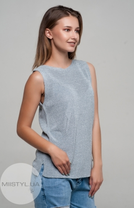 Блуза Serianno 10C4178 Серый/Голубой/Люрекс