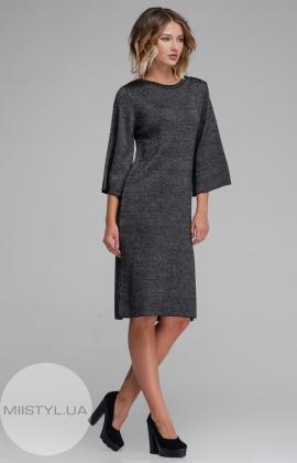 Платье Serianno 10С2890 Черный/Меланж