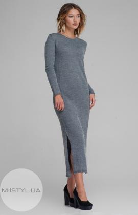 Платье Serianno 10С1428 Серый/Меланж