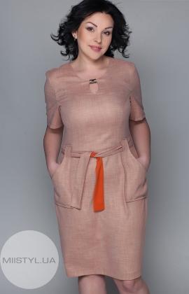Платье Kaner 6668 бежевое