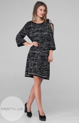 Платье Serianno 10C3640 Черный/Серый/Принт