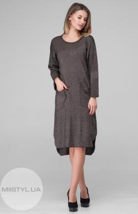 Платье Serianno 10C3688 Черный/Коричневый