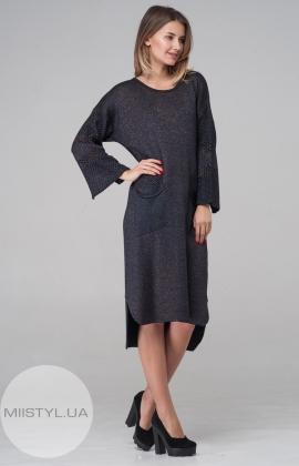 Платье Serianno 10C3688 Черный/Фиолетовый