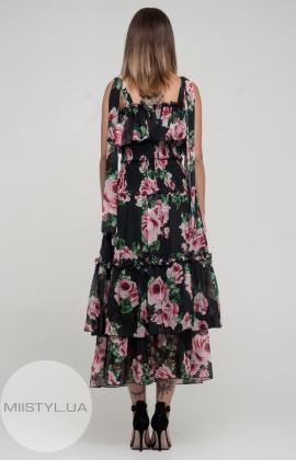 Платье Kedma 97688 Черный/Розовый/Принт