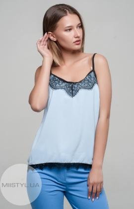 Блуза La Fama 1107 Голубой/Черный
