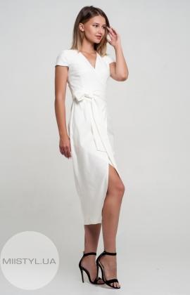 Платье Body form 6559 Белый/Люрекс