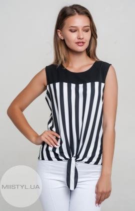Блуза X&T 18274 Черный/Белый/Полоска