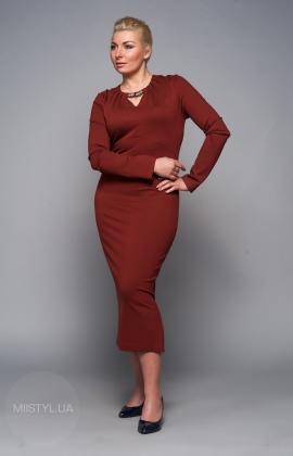 Платье Norm 14943 св.коричневое