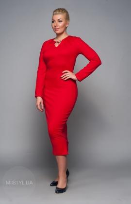 Платье Norm 14943 красное