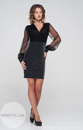 Платье Dojery 69463 Черный/Серебристый/Люрекс