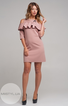 Платье  La Fama 936 Пудра