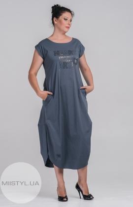 Платье  DANESSI 646 (7181-14) Темно-серый