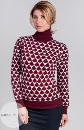 Джемпер Chanel 7728 бордовый/белый