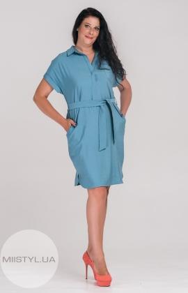 Платье SHN 6025 Темно-голубой