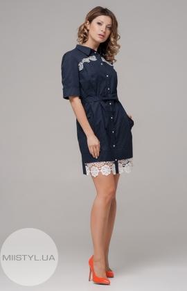Платье Rica Mare RM923-3-16DD Темно-синий