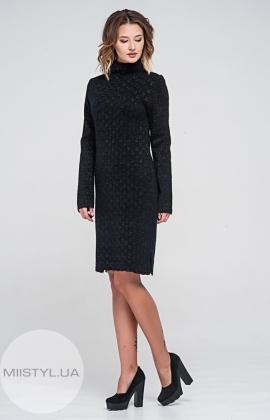 Платье Serianno 10С3456 Черный/Люрекс