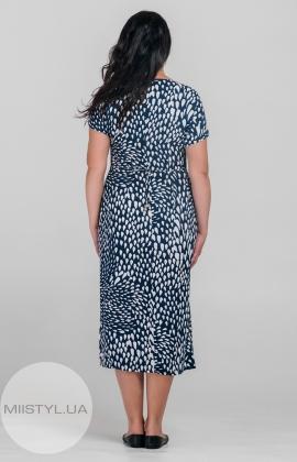 Платье Estee 1223 Темно-синий/Белый/Прнит