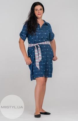 Платье L.Hotse 4549 Джинсовый/Принт