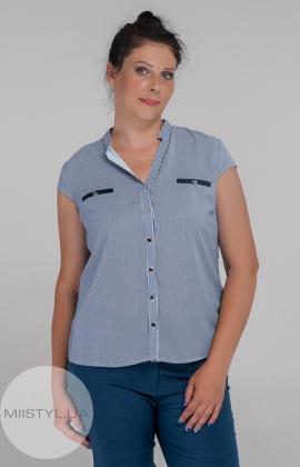 Блуза Moda Linda 1239 Темно-синий/Белый/Полоска