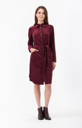 Платье RM1839-1-18DD Бордовый