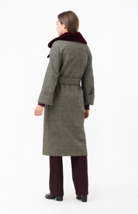 Пальто RM1876-18CT Коричневый