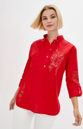 Блуза Rica Mare RM2247-20DB Красный