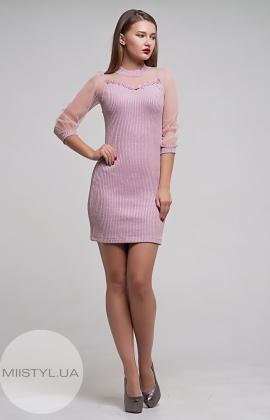 Платье La Fama 1206 Пудра/Люрекс