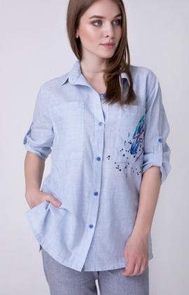 Блуза RMD1296-19DB Голубой