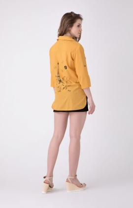 Блуза RM1252-19DB Горчичный