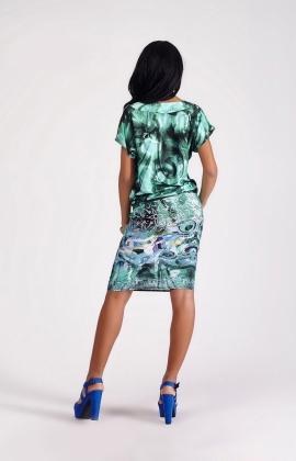 Платье Ksu & V  204/77 зелёный принт