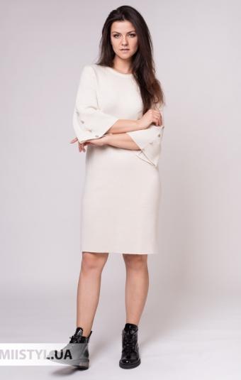 Платье Serianno 10С5140 Молочный/Люрекс