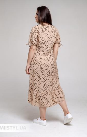 Платье Marimor 7011 Бежевый/Черный/Горох