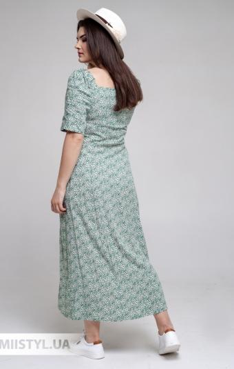 Платье GrimPol 2117 Зеленый/Принт