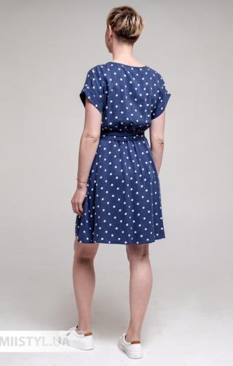 Платье Asil 550/19995 Синий/Белый/Горох
