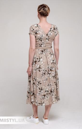 Платье F&K 3046 Бежевый/Принт