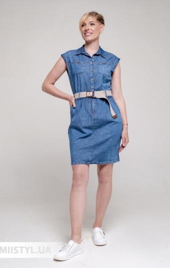 Платье Asil 898-21312 Джинсовый
